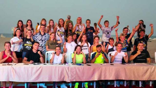 Български шампиони с открита тренировка за деца на плажа в Камчия