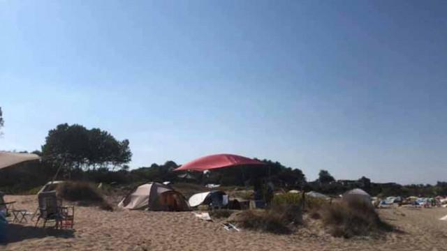 """Отново палатки върху дюните на """"Корал"""""""