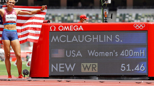 МакЛафлин триумфира на 400 м с препятствия с нов световен рекорд