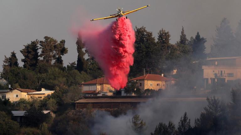 Израел се бори с огромен пожар до Йерусалим