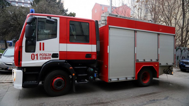 Пожар горя във ветеринарна клиника в София