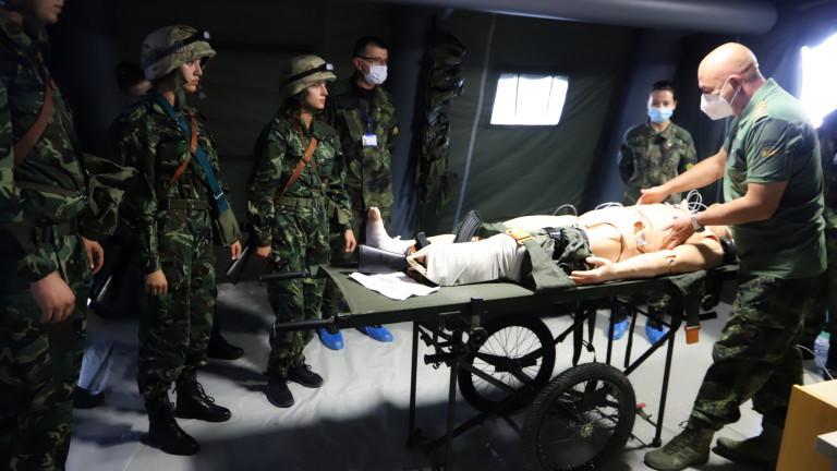 Уникален за България симулационен тренировъчен център за военни медици бе