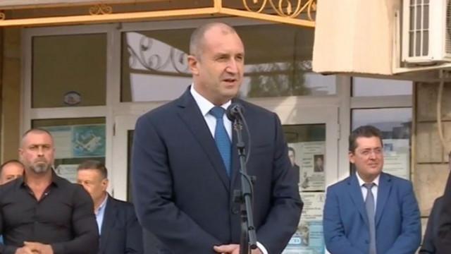 Румен Радев призова за единение в Пловдив