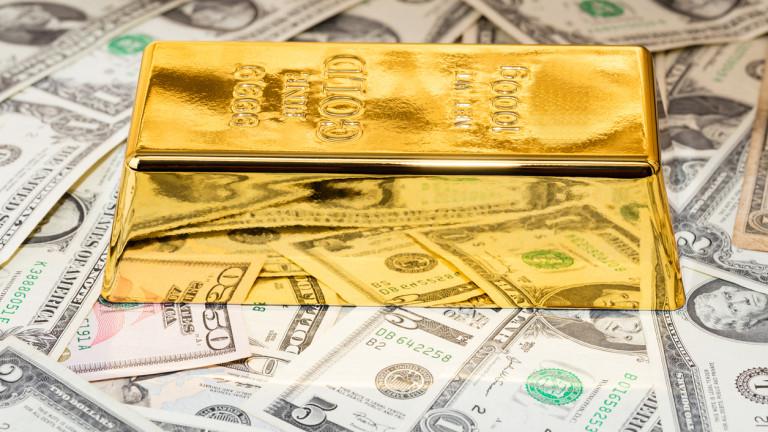 Златото слабо поскъпва при по-ниска доходност по американските облигации