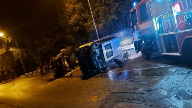 """Двегодишно дете е с фрактура след тежка катастрофа по пътя за кв. """"Галата"""" във Варна"""