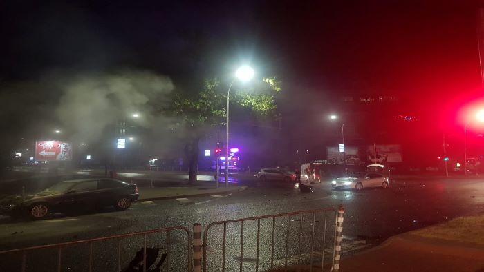 Тежка катастрофа до Варна мол, водач на микробус е минал на червен светофар