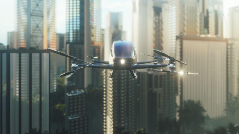 Китайски стартъп разработва летящи електрически таксита