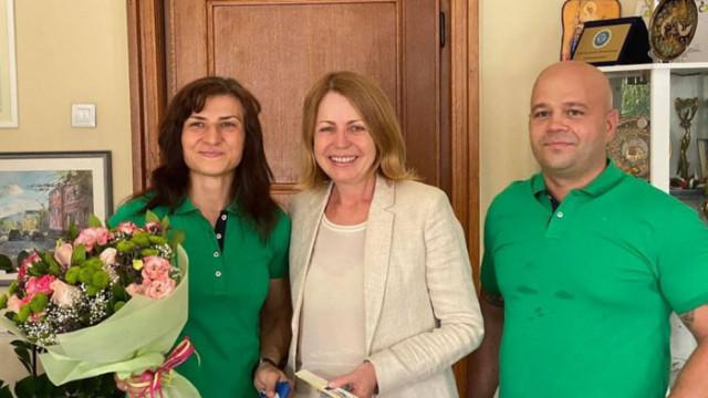 Стойка Кръстева и треньорът й станаха почетни граждани на София