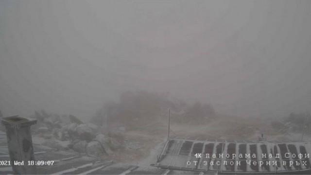 В първия ден на есента: На Витоша падна сняг