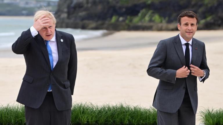 Джонсън се обади на Макрон за възстановяване на отношения след раздора за подводниците