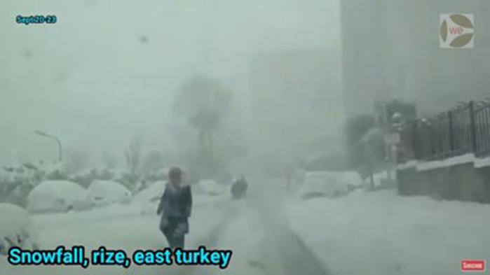 Сняг вали на много места в Северна и Централна Турция,