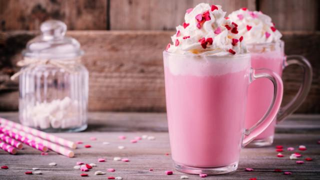 Розов горещ шоколад