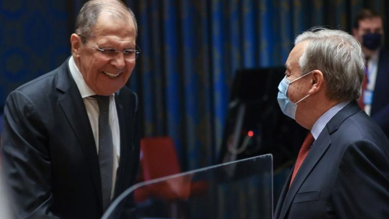 Афганистан, Либия, Сирия и Украйна обсъдиха Лавров и Гутериш