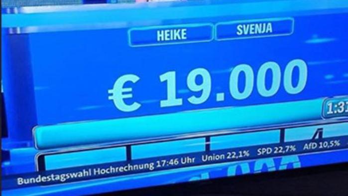 Държавната ТВ на Германия пусна резултати от изборите погрешка, като проба?