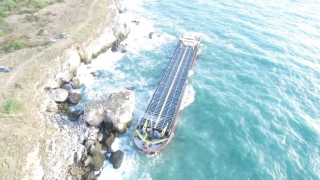 Воден смерч се образува в морето край скалите на Камен бряг