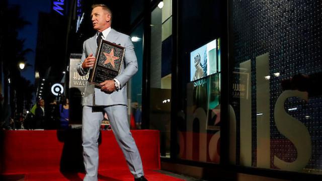 Даниел Крейг вече има своя звезда в Алеята на славата