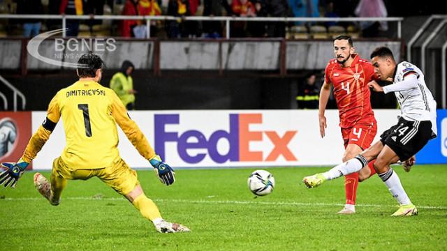 Германия си гарантира място на Мондиал 2022 след успех в Скопие