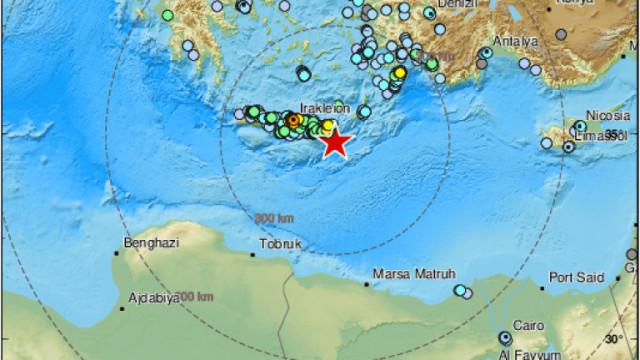 Много силно земетресение удари о. Крит в Гърция