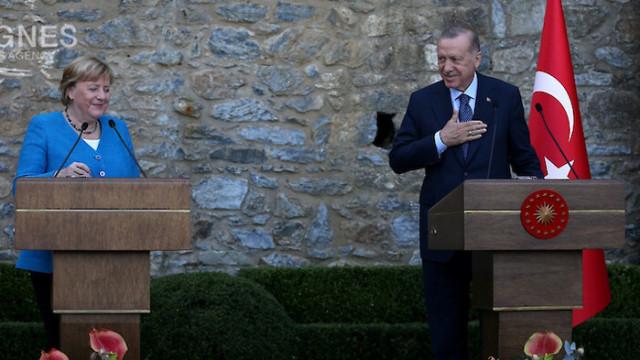 Ердоган-Мекел: Анкара и Берлин да продължат принципа на взаимна изгода