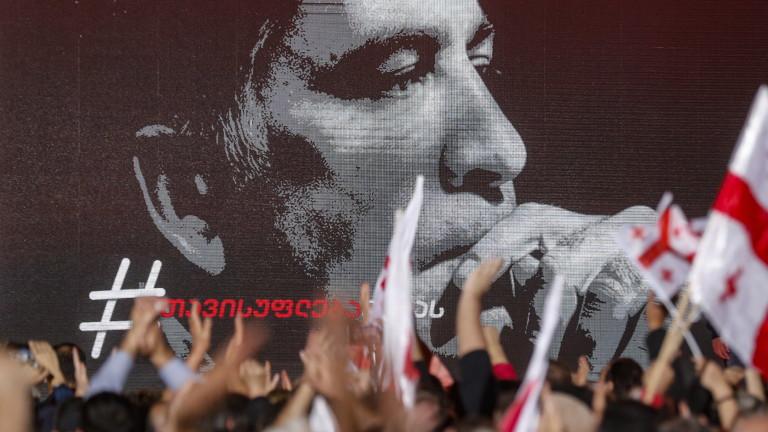 Хвърленият в затвора бивш грузински президентМихаил Саакашвили, който обяви гладна