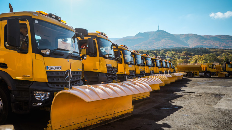 Над 330 снегорина ще чистят София през зимния сезон,съобщават от