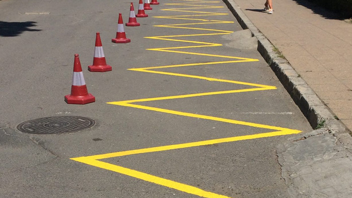 Полагат маркировка по централни варненски улици