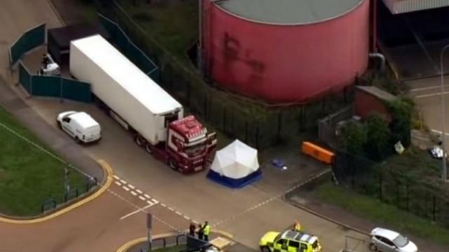 Арест на заподозрени за камиона-ковчег във Великобритания