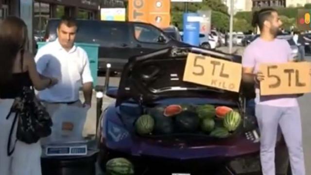 Глобиха иранец в Истанбул, защото продава дини в багажник на Ламборгини (ВИДЕО)