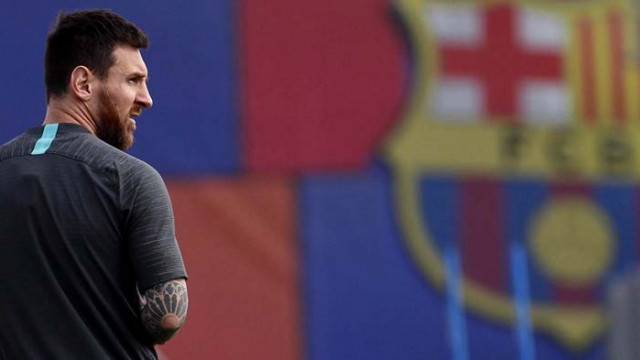 Меси се появи за първата си тренировка с Барселона след скандала