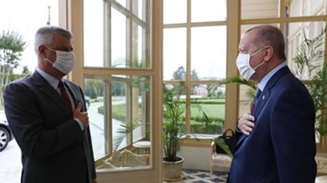 Среща на Ердоган и Тачи в Истанбул
