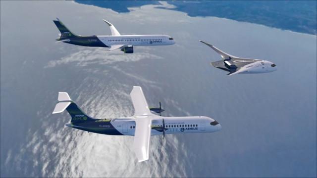 Airbus разкри плановете за първия в света пътнически самолет с нулеви емисии