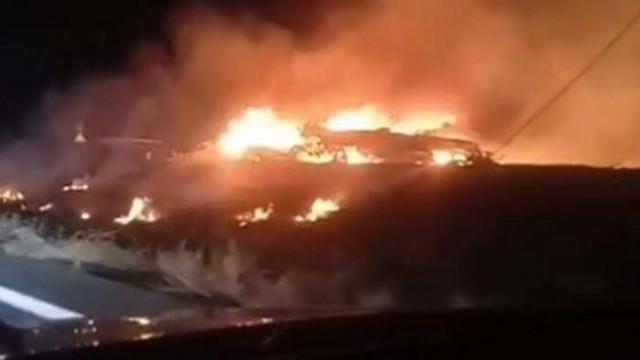 Военен самолет Ан 26 се разби край Харков, има загинали