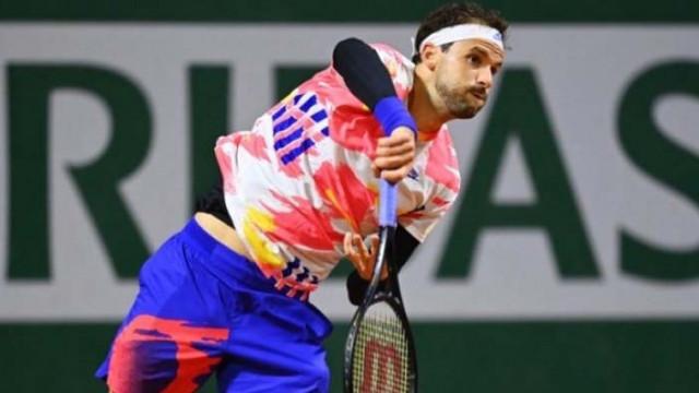 """Григор Димитров продължава към третия кръг на """"Ролан Гарос"""" без загубен сет"""
