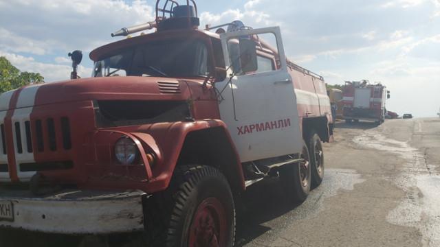 Голям пожар до хасковското с. Брягово, няма опасност за хората
