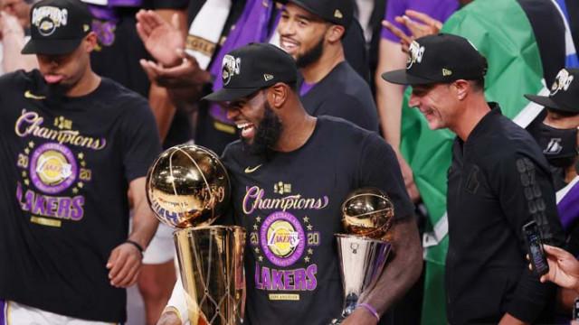 Трипъл-дабъл на ЛеБрон помогна на Лейкърс да завоюва титлата в НБА