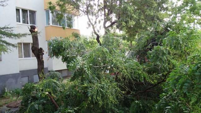 Паднали покриви, прекъсвания на тока и затруднен трафик в Смолян