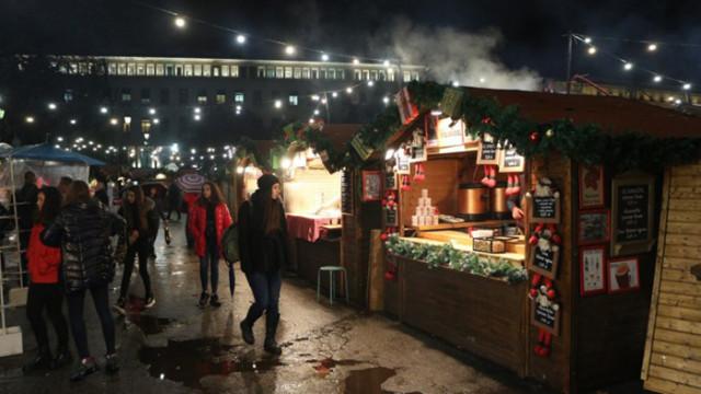 Забраняват масите и консумацията на място на откритите Коледни базари в София
