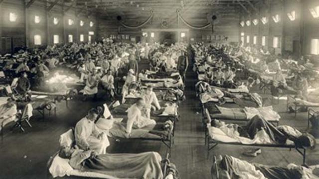 На четири вълни испанският грип убива 100 милиона