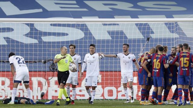 Барса почете Марадона с убедителен успех над Осасуна