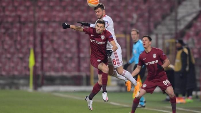 ЦСКА пропусна да запише първа победа в Лига Европа, стигна само до 0:0 с ЧФР Клуж