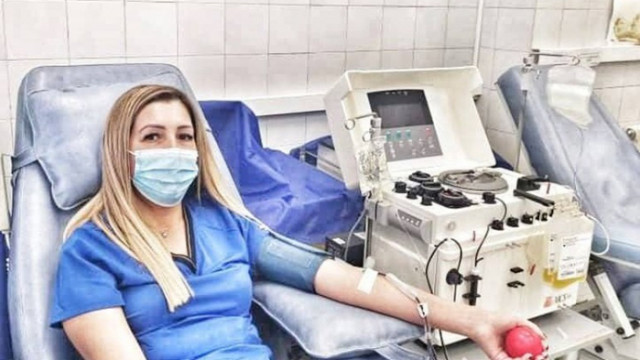 Лекари от ВМА дариха кръвна плазма за пациенти с COVID-19