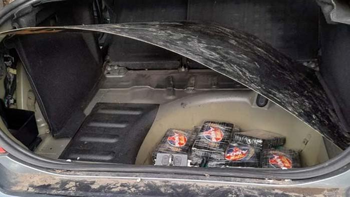 """Кокаинът, задържан на """"Лесово"""", за над 2 млн. лв., скрит в кола с белгийска регистрация (СНИМКИ)"""