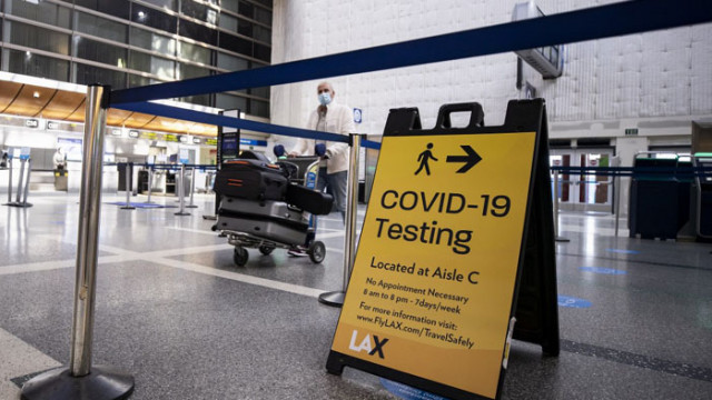 САЩ иска отрицателен резултат за COVID-19 за всички, пристигащи със самолет