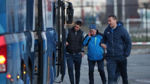 Левски потегли към Хърватия с всички футболисти (ВИДЕО)
