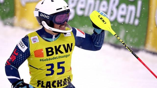 Алберт Попов с 16-о място на слалома във Флахау, Басино триумфира в Кранска Гора