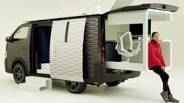 Nissan NV350 и как компанията си представя мобилния офис