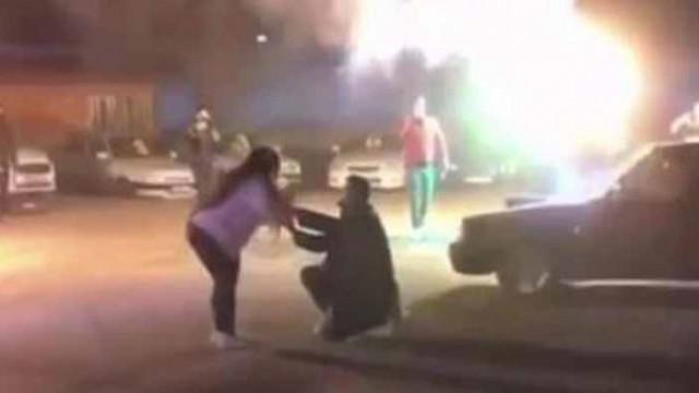 Глобиха солено турчин за екстремно предложение за брак с дрифт (Видео)