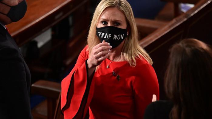 Спазено: Марджъри Грийн внесе предложението за импийчмънт на Джо Байдън