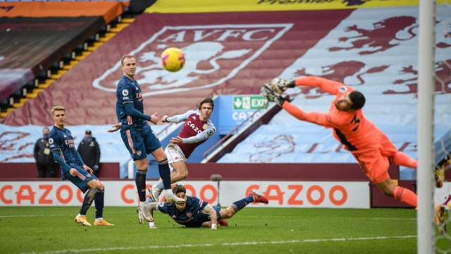 Астън Вила победи Арсенал с гол в 74-ата секунда