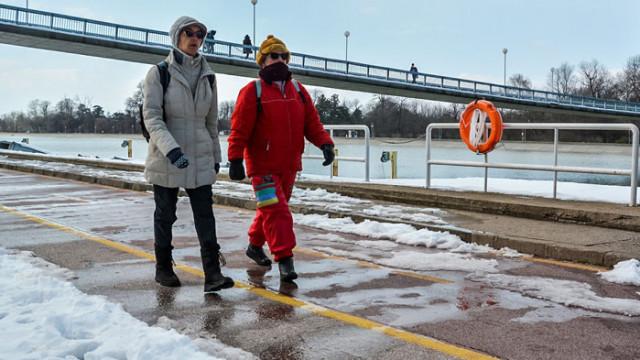 Гребната база в Пловдив не замръзна въпреки студа